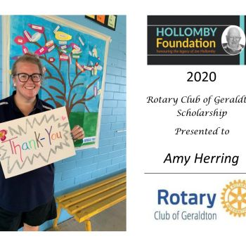 Amy Herring - Rotary Club of Geraldton Scholarship Winner