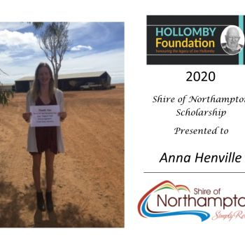 Anna Henville - Shire of Northampton Scholarship Winner