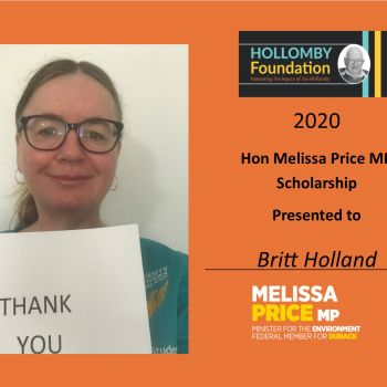 Britt Holland - Hon Melissa Price MP Scholarship Winner