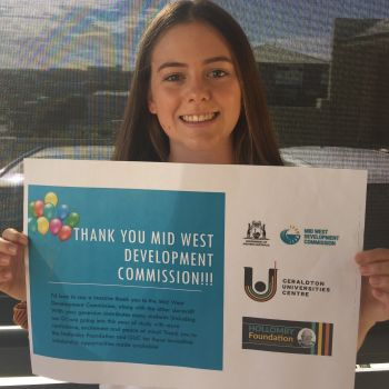 Jasmine Anderson - Mid West Development Commission Scholarship Winner