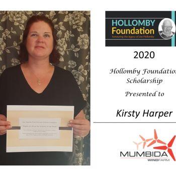Kirsty Harper - Mumbida Wind Farm Scholarship Winner