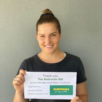 Taylah Broadhurst - Nationals WA Scholarship Winner