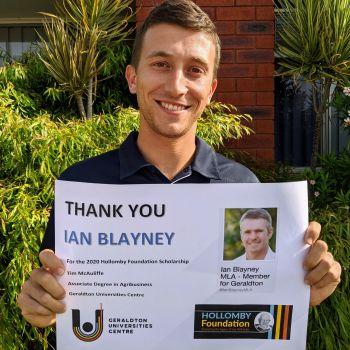 Tim McAuliffe - Ian Blayney MLA Scholarship Winner